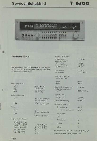 Rosita T 6500 Schaltplan / Serviceunterlagen