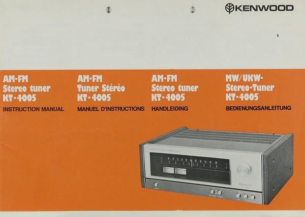 Kenwood KT-4005 Bedienungsanleitung