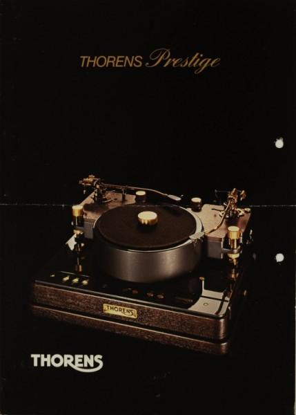 Thorens Prestige Produktübersicht Prospekt / Katalog