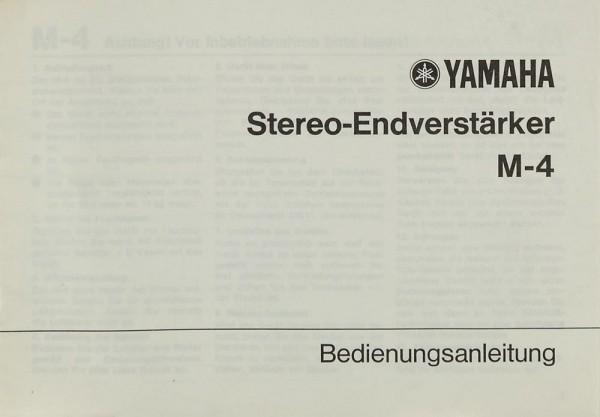 Yamaha M-4 Bedienungsanleitung