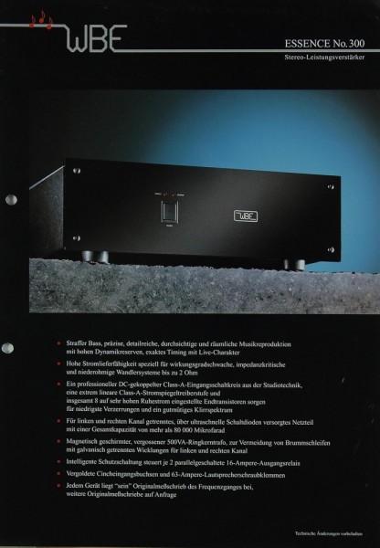 WBE Essence No. 300 Prospekt / Katalog