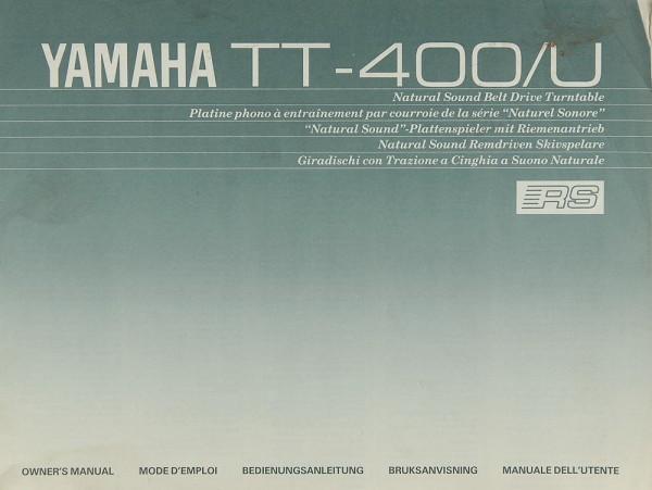 Yamaha TT-400 Bedienungsanleitung