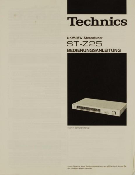 Technics ST-Z 25 Bedienungsanleitung