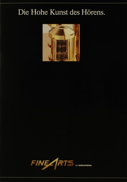 Fine Arts / Grundig Die Hohe Kunst des Hörens Prospekt / Katalog