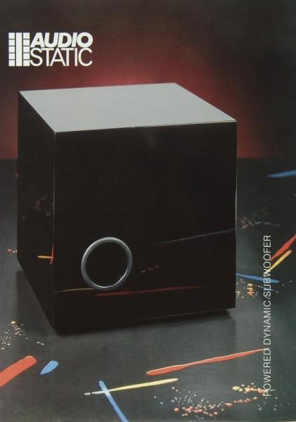 Audio Static PDSW Prospekt / Katalog