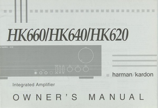 Harman / Kardon HK 660 / 640 / 620 Bedienungsanleitung