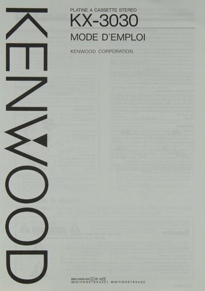 Kenwod KX-3030 Bedienungsanleitung