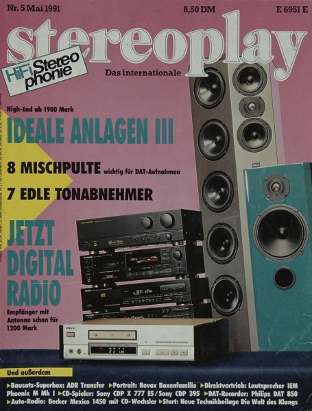 Stereoplay 5/1991 Zeitschrift