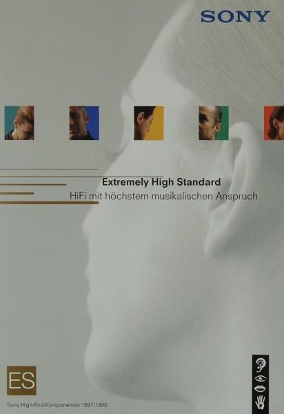 Sony High-End Komponenten 1997/1998 Prospekt / Katalog