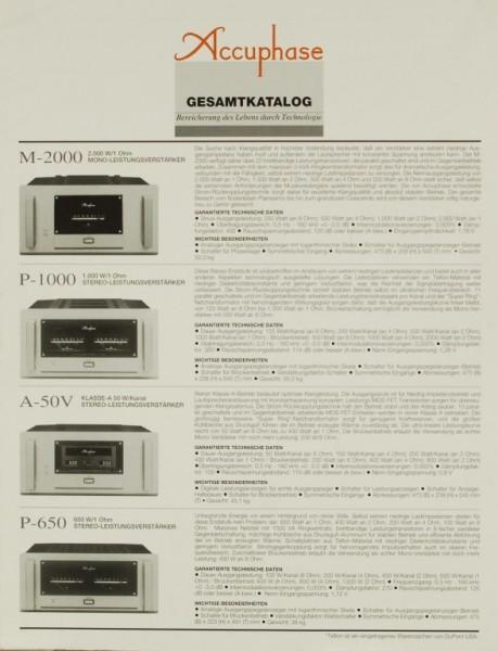Accuphase Gesamtkatalog Prospekt / Katalog