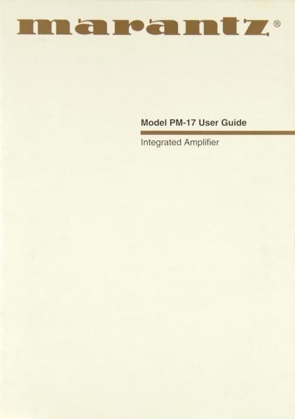 Marantz PM-17 Bedienungsanleitung