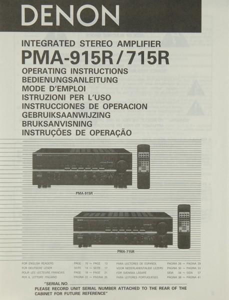 Denon PMA-915 R / 715 R Bedienungsanleitung