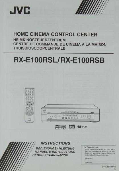 JVC RX-E 100 RSL / 100 RSB Bedienungsanleitung