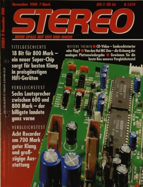 Stereo 11/1988 Zeitschrift