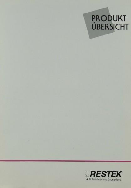 Restek Produktübersicht Prospekt / Katalog