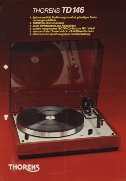 Thorens TD 146 Prospekt / Katalog