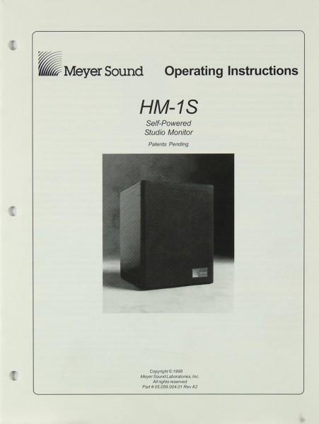 Meyer Sound HM-1 S Bedienungsanleitung