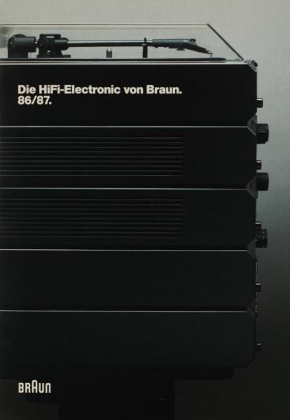 Braun Die HiFi Electronic von Braun. 86/87 Prospekt / Katalog