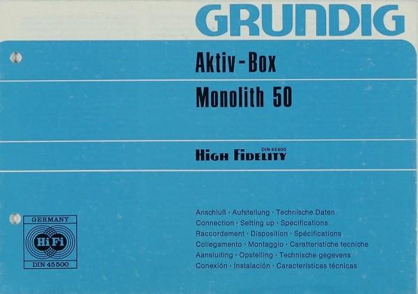 Grundig Monolith 50 Bedienungsanleitung