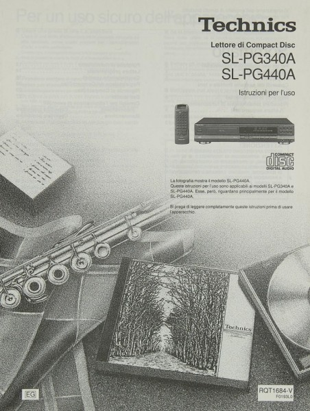 Technics SL-PG 340 A / 440 A Bedienungsanleitung