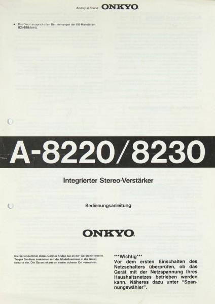 Onkyo A-8220 / A-8230 Bedienungsanleitung