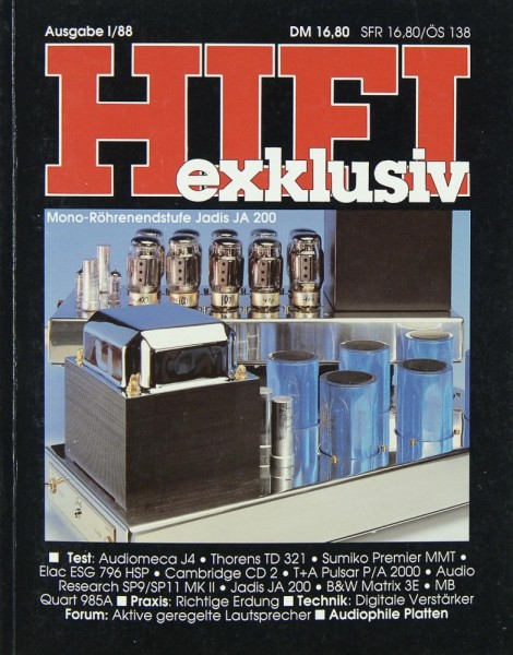 Hifi Exklusiv I / 88 Zeitschrift