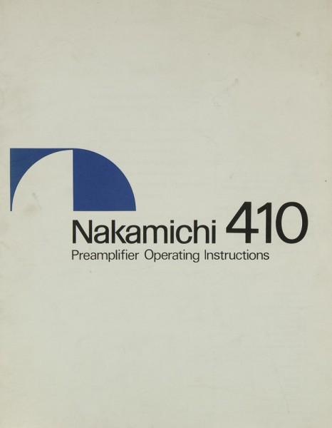 Nakamichi 410 Bedienungsanleitung
