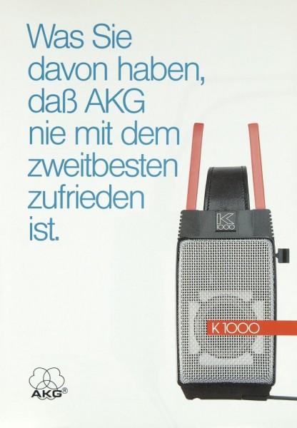 AKG K 1000 Prospekt / Katalog