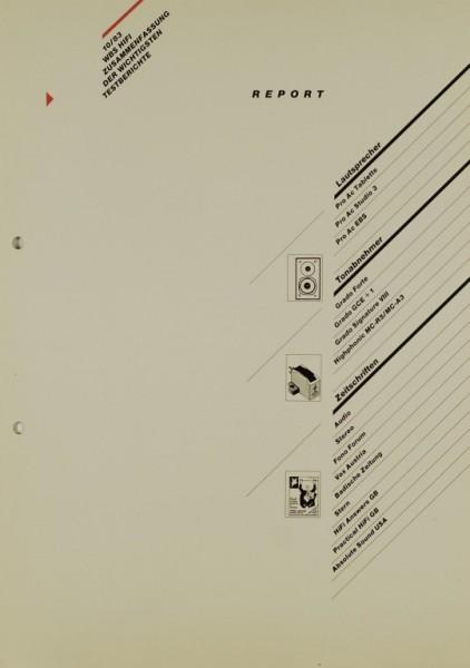 WBS Report 10/83 Prospekt / Katalog