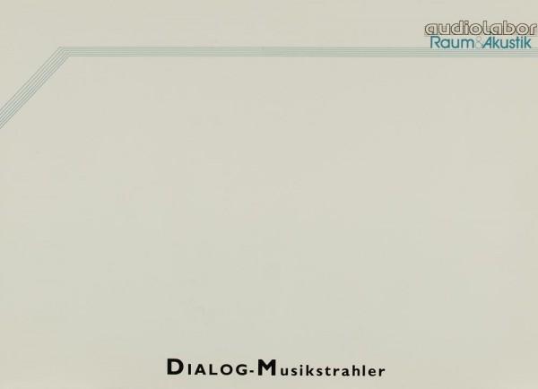 Audiolabor (Raum&Akustik) DIALOG-Musikstrahler Prospekt / Katalog