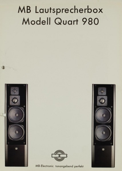MB-Electronic Modell Quart 980 Prospekt / Katalog