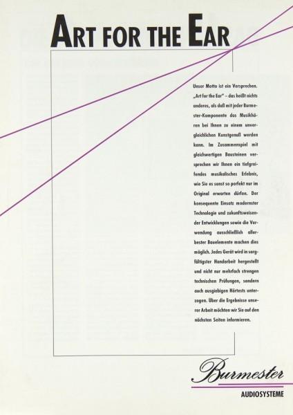 Burmester Audiosysteme Prospekt / Katalog