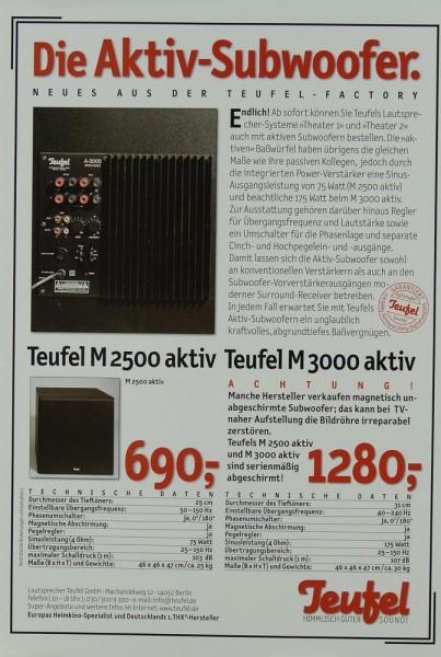 Teufel M 2500 aktiv / M 3000 aktiv Prospekt / Katalog