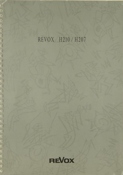 Revox H 210 / H 207 Bedienungsanleitung