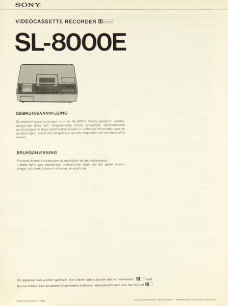 Sony SL-8000 E Bedienungsanleitung