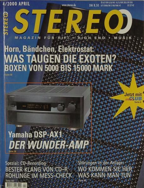 Stereo 4/2000 Zeitschrift