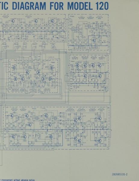 Marantz Model 120 Schaltplan / Serviceunterlagen