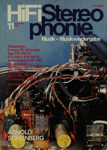 Hifi Stereophonie 11/1974 Zeitschrift