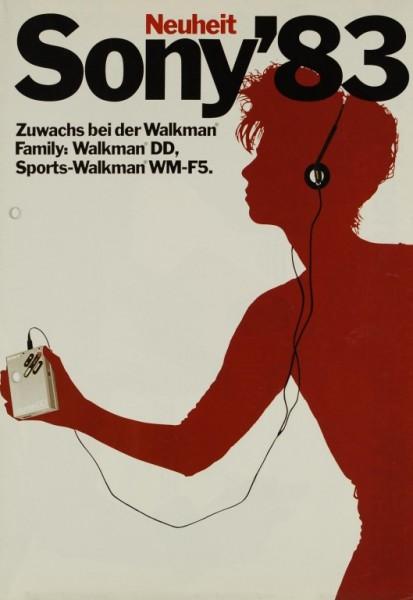 Sony Sony ´83 - Walkman DD / WM-F 5 Prospekt / Katalog