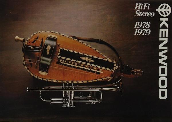 Kenwood Hifi Stereo 1978/1979 Prospekt / Katalog
