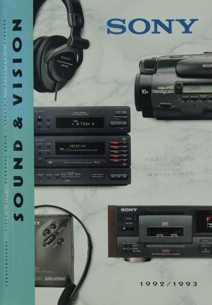 Sony Sound & Vision 1992/1993 Prospekt / Katalog