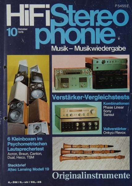 Hifi Stereophonie 10/1979 Zeitschrift