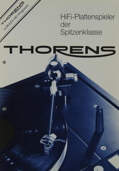 Thorens Hifi Plattenspieler der Spitzenklasse Prospekt / Katalog