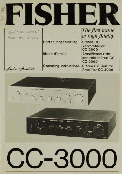 Fisher CC-3000 Bedienungsanleitung