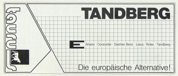 Tandberg Verschiedene Prospekt / Katalog