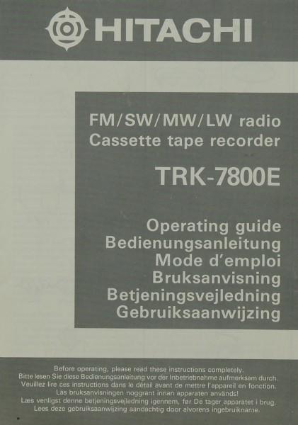Hitachi TRK-7800 E Bedienungsanleitung