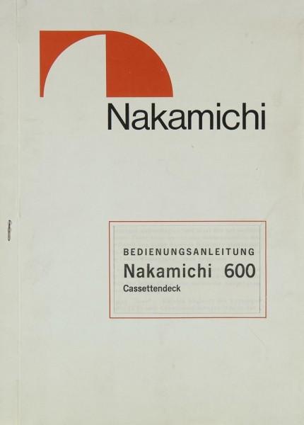 Nakamichi 600 Bedienungsanleitung