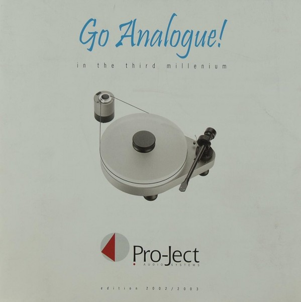 Pro-Ject Go Analogue! / Edition 2002/2003 Prospekt / Katalog