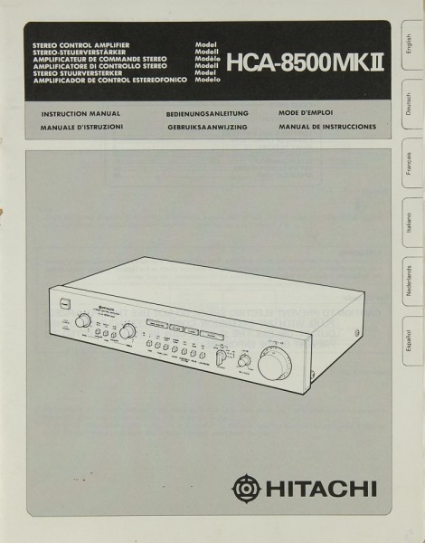 Hitachi HCA-8500 MK II Bedienungsanleitung