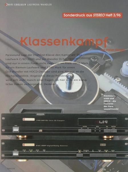 Parasound C/BD-2000 / D/AC-1600 Testnachdruck